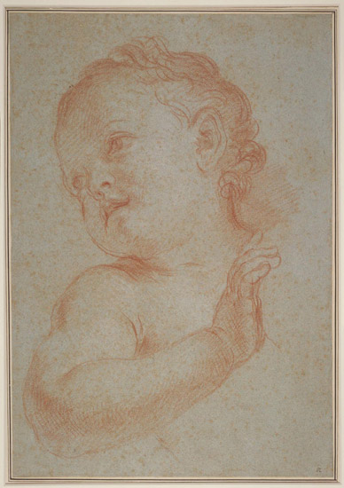 Head and Shoulders of an Infant