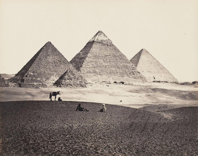 The Pyramids of Giza from the Southwest